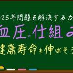 血圧の仕組み〜【健康寿命】を伸ばして2025年も元気な日本へ